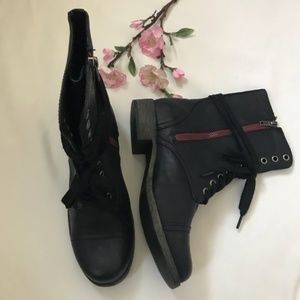 Womens High Ankle Combat boots